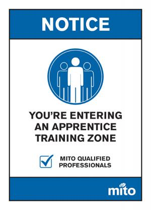 MITO training sign